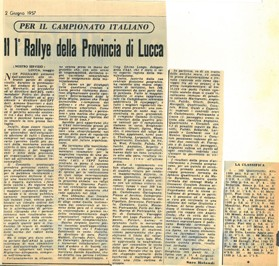 1957 I° Rally di Lucca C