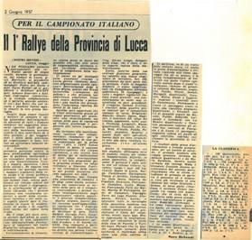1957 I° Rally di Lucca C