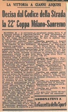 08 1958 XXII Milano Sanremo AA