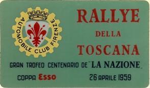 58 1959 Rally Toscana AB